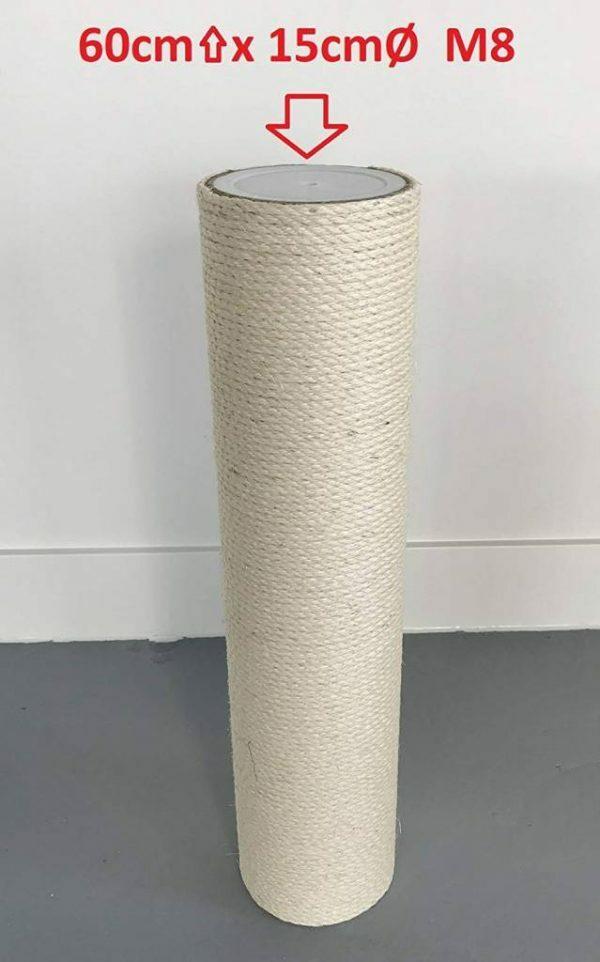 Krabpaal onderdelen Sisalpaal 60x15 M8