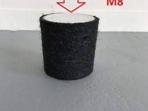 Krabpaal onderdelen Sisalpaal 18x15 M8 BLACKLINE