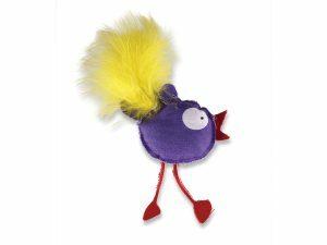 Speelgoed kat kip Polo paars 10cm