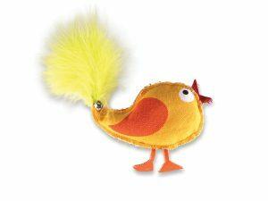 Speelgoed kat kip Polo oranje 10cm
