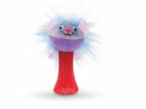 Speelgoed kat pluche hopping muis 10cm