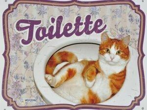 Waakbord kat Toilette FR