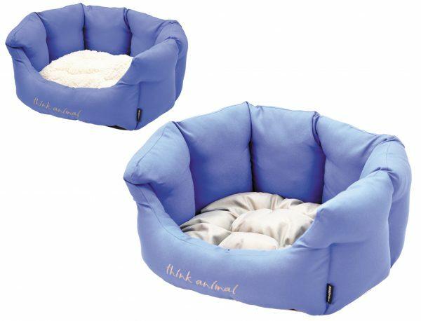 Hondenmand Sitelle blauw/grijs 66x57x22cm