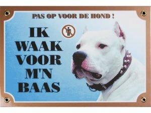 Waakbord gelamineerd Argijntijnse Dog blauw NL