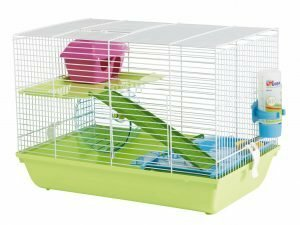 Hamsterkooi Martha Triple wit/groen 46x30x34cm