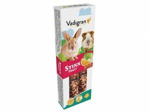 Snack StixX konijn&cavia Fruit 115g(2)