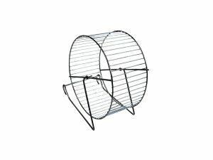 Hamster wiel metaal/chroom 12cm