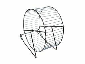 Hamster wiel metaal/chroom 15cm