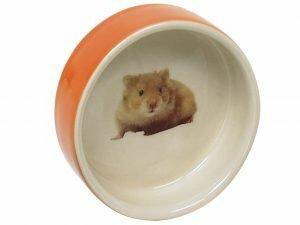 Eetpot knaagdier aardewerk Hamster rood Ø7,5cm