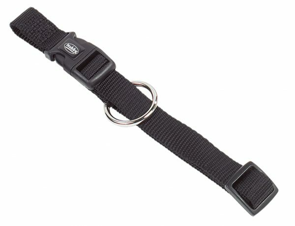 Halsband hond nylon Classic zwart 10mmx13-20cm
