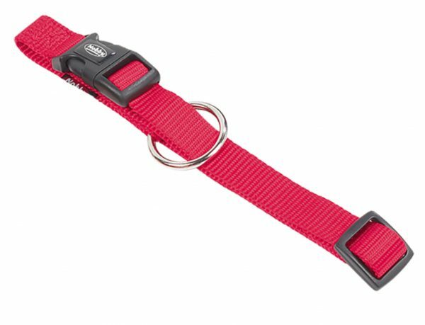 Halsband hond nylon Classic rood 10mmx13-20cm