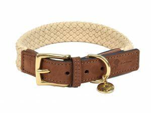 Halsband hond Tau donkerbruin 40cmx25mm S