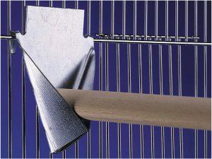 Stokhouder metaal 8x10,5cm