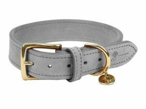 Halsband hond Nubu grijs 40cmx25mm S