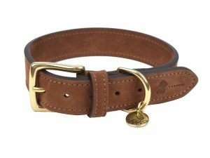 Halsband hond Nubu donkerbruin 60cmx40mm XXL