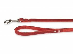 Leiband geolied leder rood 100cmx14mm S