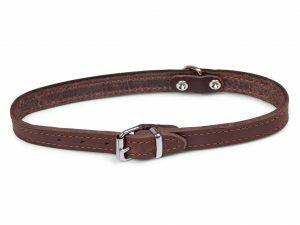 Halsband geolied leder bruin 42cmx16mm M