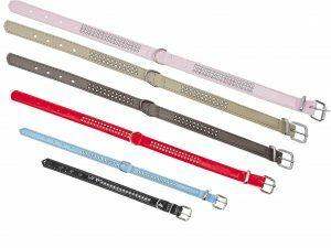 Halsband Crystal 1 rij roze 22cmx12-14mm XXS