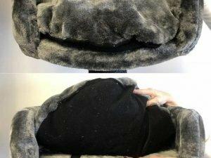 Ligbak rond Ø 50 cm + kussen Dark Grey