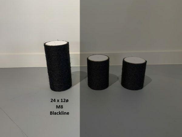 Sisalpaal 24xØ12 M8 BLACKLINE
