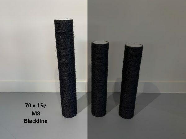 Sisalpaal 70x15Ø M8  BLACKLINE