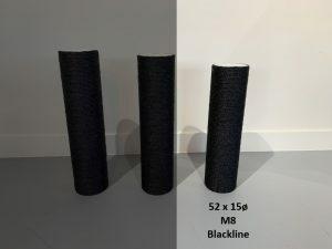Sisalpaal 52x15Ø M8  BLACKLINE