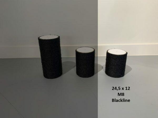Sisalpaal 24,5x12Ø M8 BLACKLINE