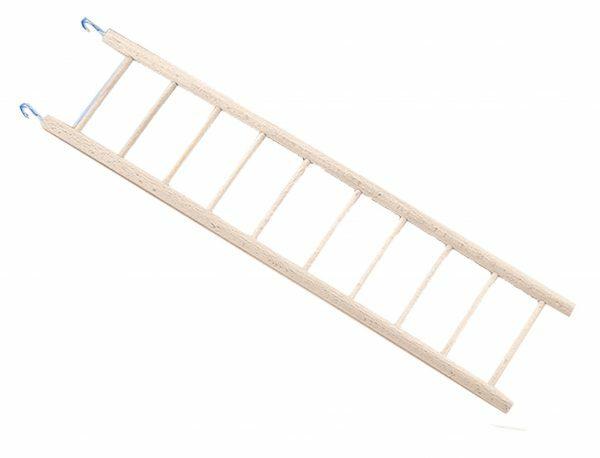 Speelgoed vogel ladder hout 10 sporten 42x10,5cm