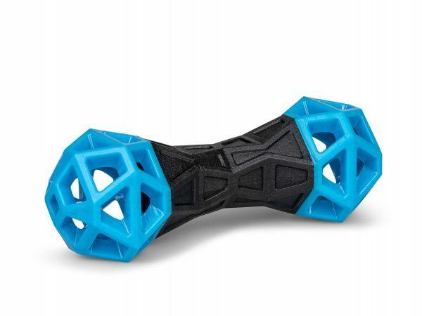 Speelgoed hond TPR Blueberry Fun halter 18cm