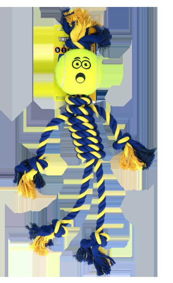 Braide Rope Giant Rasta Man met 10cm Tennis Ball