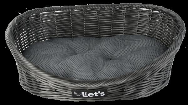Let's Sleep Pet Bed L Dark Grey