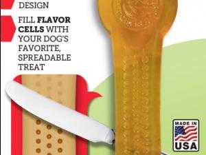 Pet Qwerks Flavorit Flex Peanut Butter Bone M 14 cm