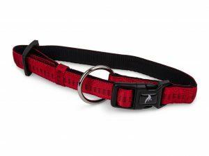 Halsband nylon Soft Grip rood 30-45cmx20mm M