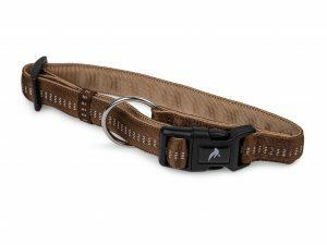 Halsband  nylon Soft Grip bruin 20-30cmx10mm S