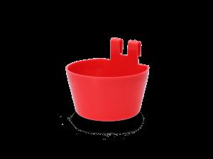 Pluimvee voerbakje kunststof met ophanghaak