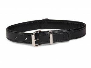 Halsband kunstleder Sunrise zwart 32cmx12-14mmXS-S