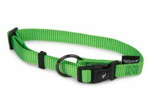 Halsband Classic Nylon groen 30-46cmx15mm M