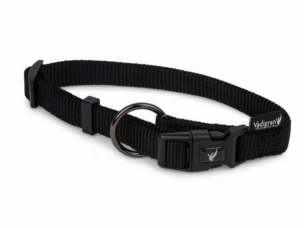 Halsband Classic Nylon zwart 20-35cmx10mm S