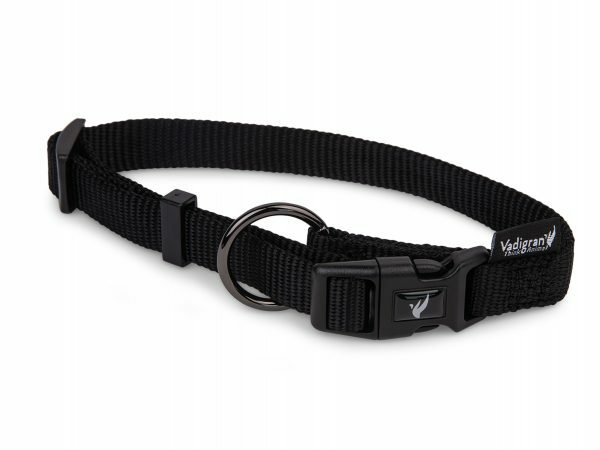 Halsband Classic Nylon zwart 50-66cmx25mm XL