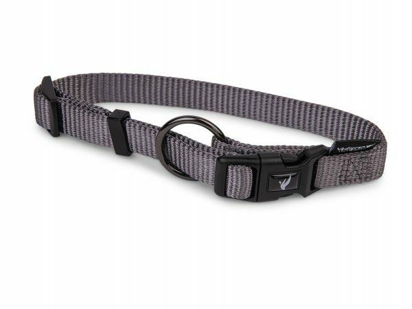 Halsband Classic Nylon taupe 25-40cmx15mm S-M