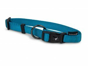Halsband Classic Nylon turquoise 30-46cmx15mm M