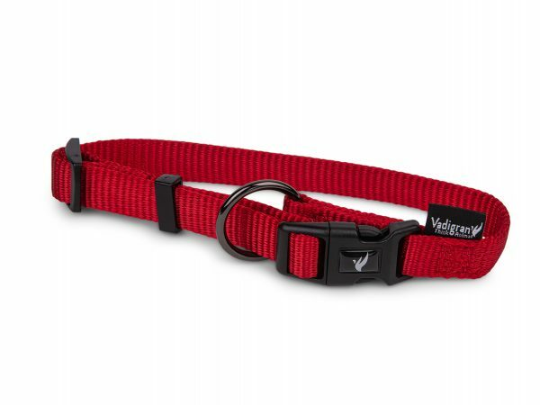 Halsband Classic Nylon rood 30-46cmx15mm M