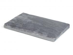 Bench kussen Zachte pluche grijs 54x36x3cm